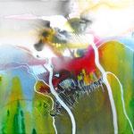 Landschaft FELDER - 40x40 cm - 2011 © Peter K. Endres - SOLD