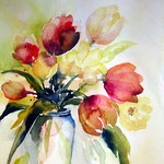 aquarell - tulpenvase