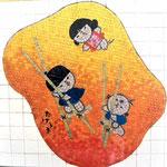 入間市産業文化センターに池原昭治・童絵タイル壁画