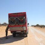 Auf dem Weg zum Mabuasehube NP, Botswana