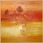 Wüste, Acryl mit Spachtel, 120 cm x 120 cm