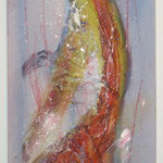 Lifeline, Acryl mit Spachtel, 120 cm x 40 cm