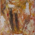 Black Line, Acryl mit Spachtel, 80 cm x 80 cm