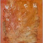 Erde, Acryl mit Spachtel, 80 cm x 80 cm