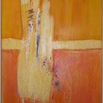 St. Oswald I, Acryl mit Spachtel, 150 cm x 100 cm