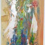 Jahreszeiten, Acryl mit Spachtel, 120 cm x 40 cm
