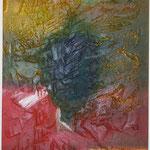Dämmerung, Acryl mit Spachtel, 80 cm x 80 cm