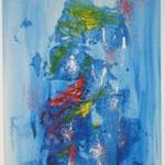 Blaue Reise, Acryl mit Spachtel, 100 cm x 60 cm