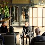 Kur und Kultur: Podiumsgespräch von Uli Aechtner mit Bürgermeister Klaus Kreß. Foto von Uli Aechtner - Ernst-Ludwig-Buchmesse 2018