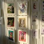 Galerie-Wand im Foyer. Foto von Martin van Ooyen - Ernst-Ludwig-Buchmesse 2018