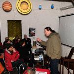 In der Sternwarte von Bad Nauheim: Walter Gröning, Astronom, vor der Lesung von MORDSWETTER. Foto von Uli Aechtner - Ernst-Ludwig-Buchmesse 2018