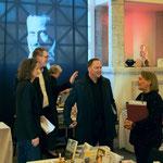 Uli Aechtner im Gespräch mit Bürgermeister Klaus Kreß, Erstem Stadtrat Peter Krank und Beatrix van Ooyen. Foto von Uli Aechtner - Ernst-Ludwig-Buchmesse 2018