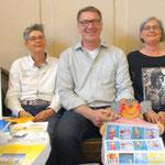 Foto von Doris Daubertshäuser und Ellen Krieger - Ernst-Ludwig-Buchmesse 2017