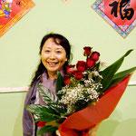 Rose rosse alla nostra Maestra Xu, Capodanno Cinese 2012