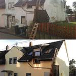 Fassadenarbeiten vorher und nachher