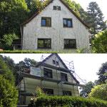 Fassadenarbeiten mit Beseitigung von Efeuschäden