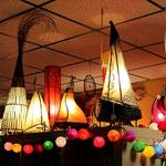 große Auswahl an Lampen
