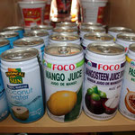 Coconut Water, Mango Juice, Passion Fruit Drink, Mangosteen Juice