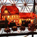 Lichthäuser und Weihnachtsdeko