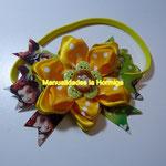 moños en flores de cinta
