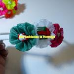 balacas decoradas con cinta organza