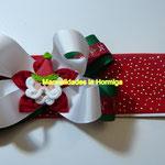 moños navideños en cinta
