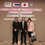 Asst.Prof.Yasumasa MORI, Prof.Momotoshi HARA, and Dr.Waraporn Thaima