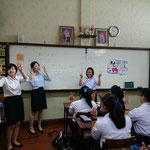 Japanese Teaching Assistants from Yasuda Women's University at Satrinonthaburi School