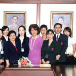 SPU students and Japanese students meet with the President of SPU