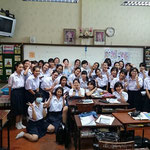 M.4 Japanese language class at Satrinonthaburi School (Sep 02, 2015)