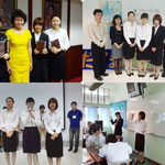 Japanese students from Yasuda Women's University and Gakushuin University