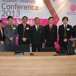 Sripatum University Conference 2013 Dec 24 Japanese participants with Vice Presidnts of SPU