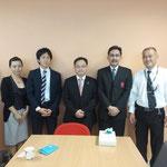 Mr. Kyosuke SAKATA, Mr. Daiji YAMASHITA and Mr. Masao SAITO (from left)