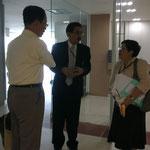 Prof.Hideki HIROTA with Asst.Prof. Dr. Banjert, Director of SIILC