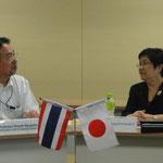 Principal Mr. Nagaoka and Director Asst.Prof.Dr.Banjert