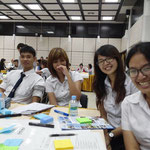 Students from Thammasat Univ. and Chantrakasem Rajabhat Univ.