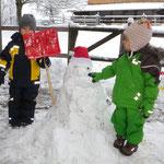 Schnemann machen im Winter...
