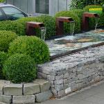 Gartenbecken aus Stahl, Steinkörbe, Eberhard_Gartenbau_AG, 8302 Kloten