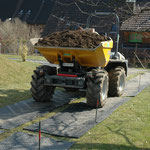 Abtransport von Aushub, Augwil, Eberhard Gartenbau AG