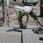 Betonverbundsteine verlegen, Eberhard Gartenbau AG Kloten
