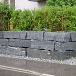 Tessiner Granit Blocksteinmauer