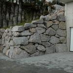 Schroppenmauerwerk als Stützmauer
