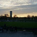 Blick auf den Tour Montparnasse im Jardin du Lux :)