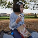 Mit Florentine im Park
