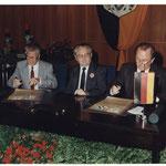 Unterzeichnung Partnerschaft Schneeberg
