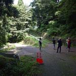 正善寺へと抜ける山道。右に上がっていく道を通ります。