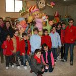 Una representación de la comisión infantil en el taller de Cate y Rosa