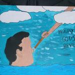 """Gods Revenge"" (2013) 40x60 (Acryl, Aquarell / Leinwand)"