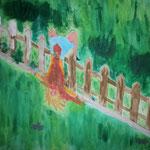 """Gartenunfall"" (2012) 50x40(Aquarell / Leinwand)"