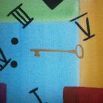 """""""Time plus Key"""" (2010) 40x30 (Aquarell / Leinwand)"""